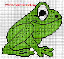 Cross stitch, patterns - frog