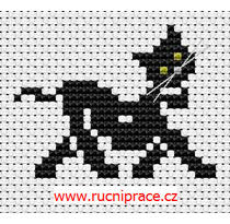 Cross stitch, patterns - black cat