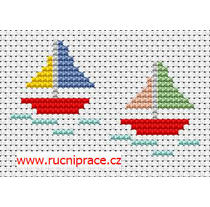 Boats cross stitch