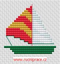 Rowboat cross stitch