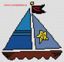 Ship cross stitch