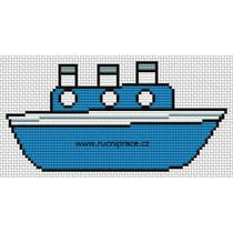 Steamer cross stitch