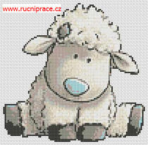 Free cross stitch lamb