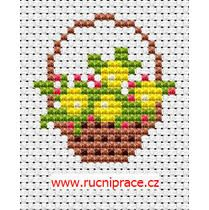 flower basket cross stitch