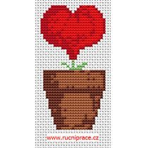 Flowerpot, free cross stitch pattern