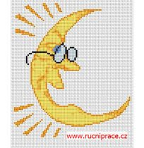 Moon cross stitch