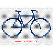 Bike, pattern, cross stitch