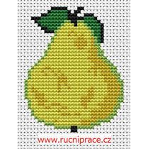 pear - cross stitch pattern