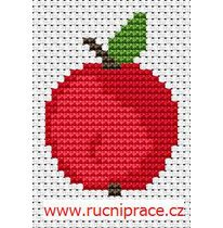 Apple, free cross stitch