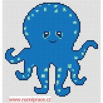 Octopus, free cross stitch