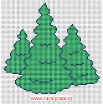 Woods, pattern, cross stitch